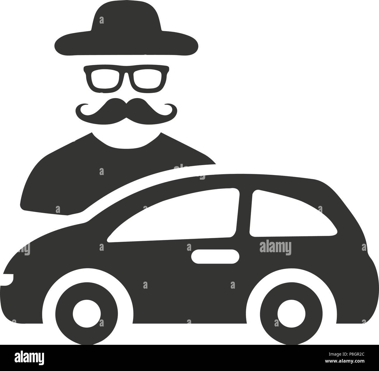 Car Theft Icon Stock Vector