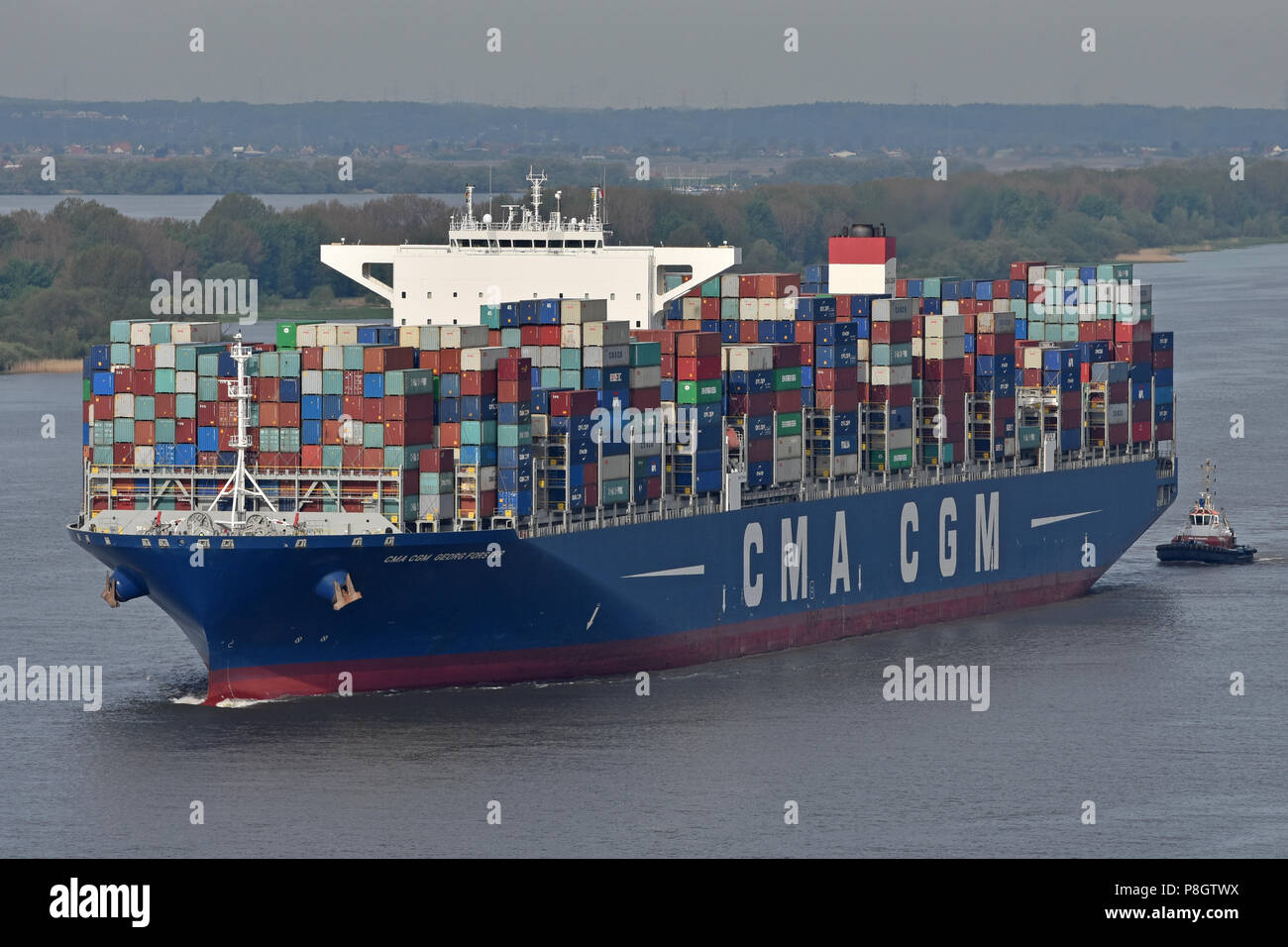 CMA CGM Georg Forster Stock Photo