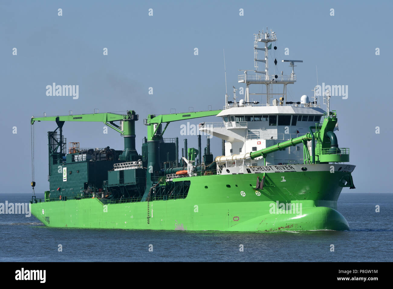 LNG-powered Hopper Dredger Scheldt RiverStock Photo