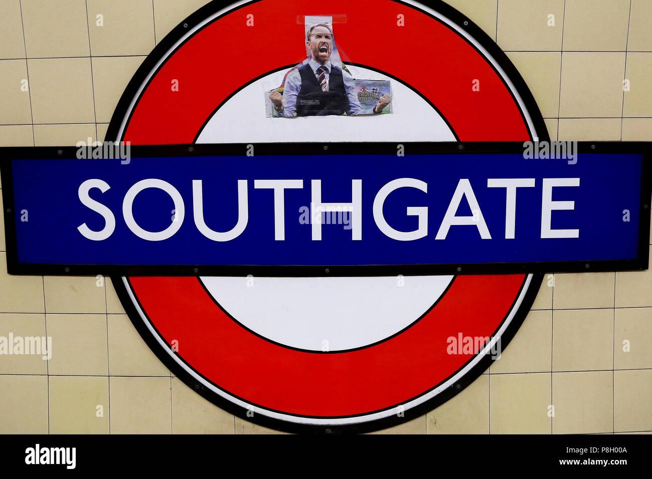 Southgate Underground Station  North London  UK 11 July 2018