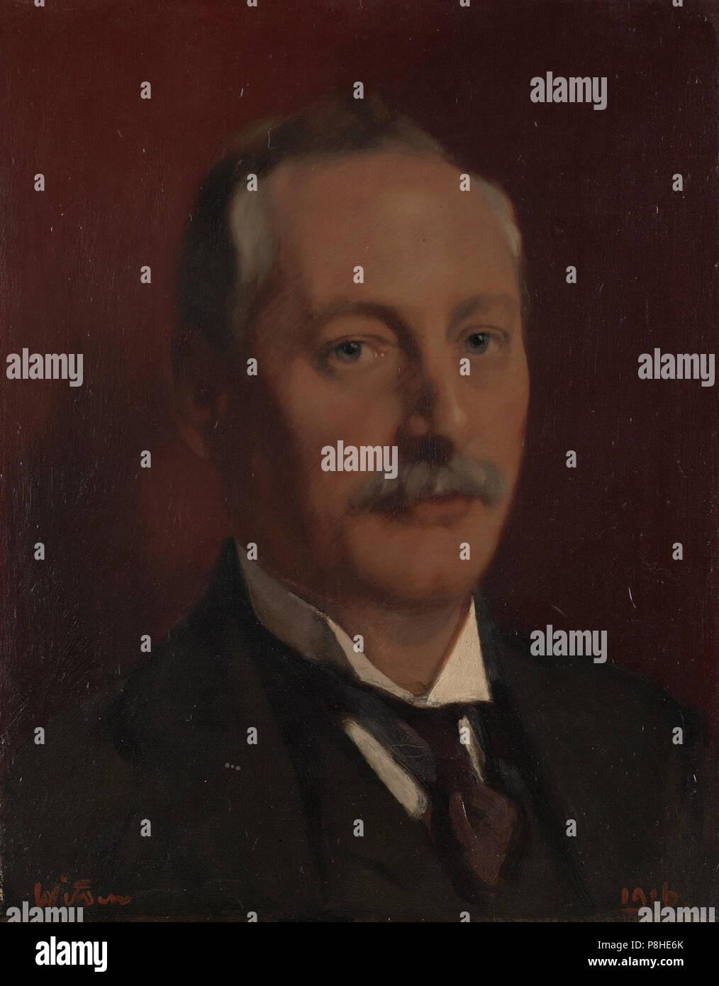 97-Alfred Gideon Boissevain (1870-1922), directeur en hoofdredacteur Algemeen Handelsblad. - Stock Image