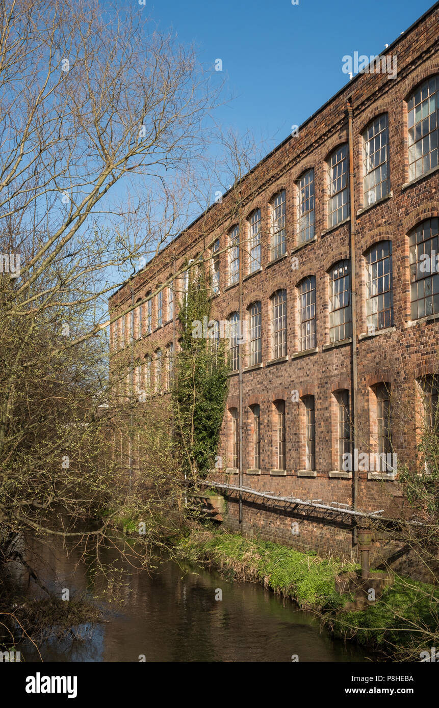 Warehouse next to the River Stour , Kidderminster, Worcestershire, England, Europe Stock Photo