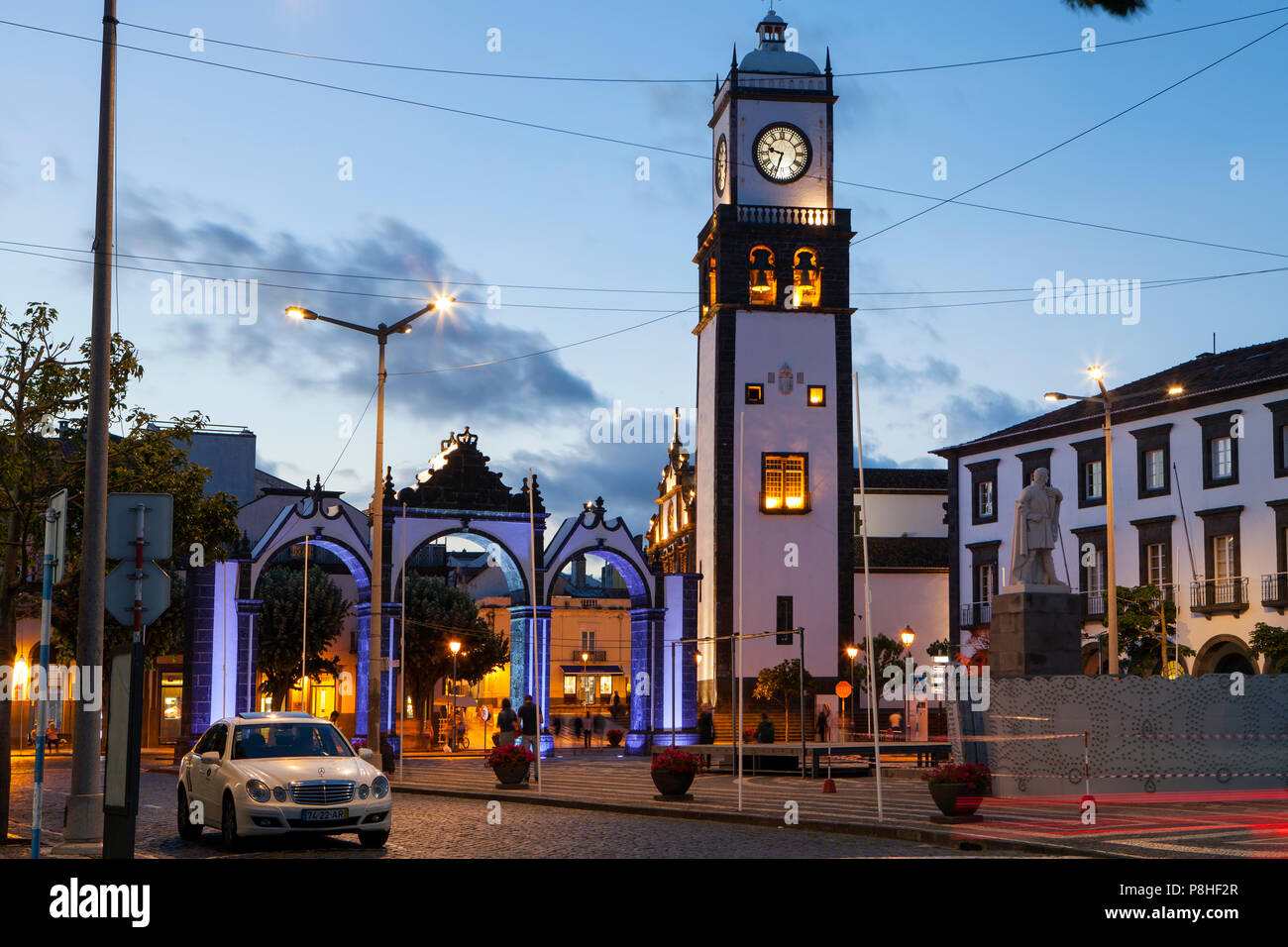 PONTA DELGADA, PORTUGAL - JUNE 28th, 2018: Ponta Delgada, on Sao Miguel Island, is the capital of the Azores archipelago of Portugal. - Stock Image