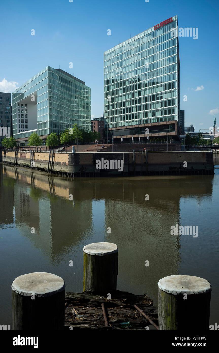Redaktionsgebäude des SPIEGEL-Verlags in der Hamburger Hafencity. - Stock Image