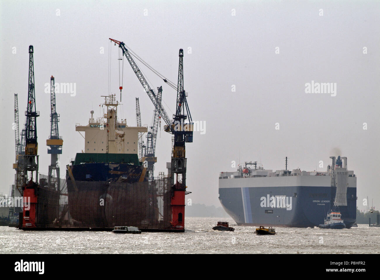 Car Carrier Ships Stock Photos & Car Carrier Ships Stock