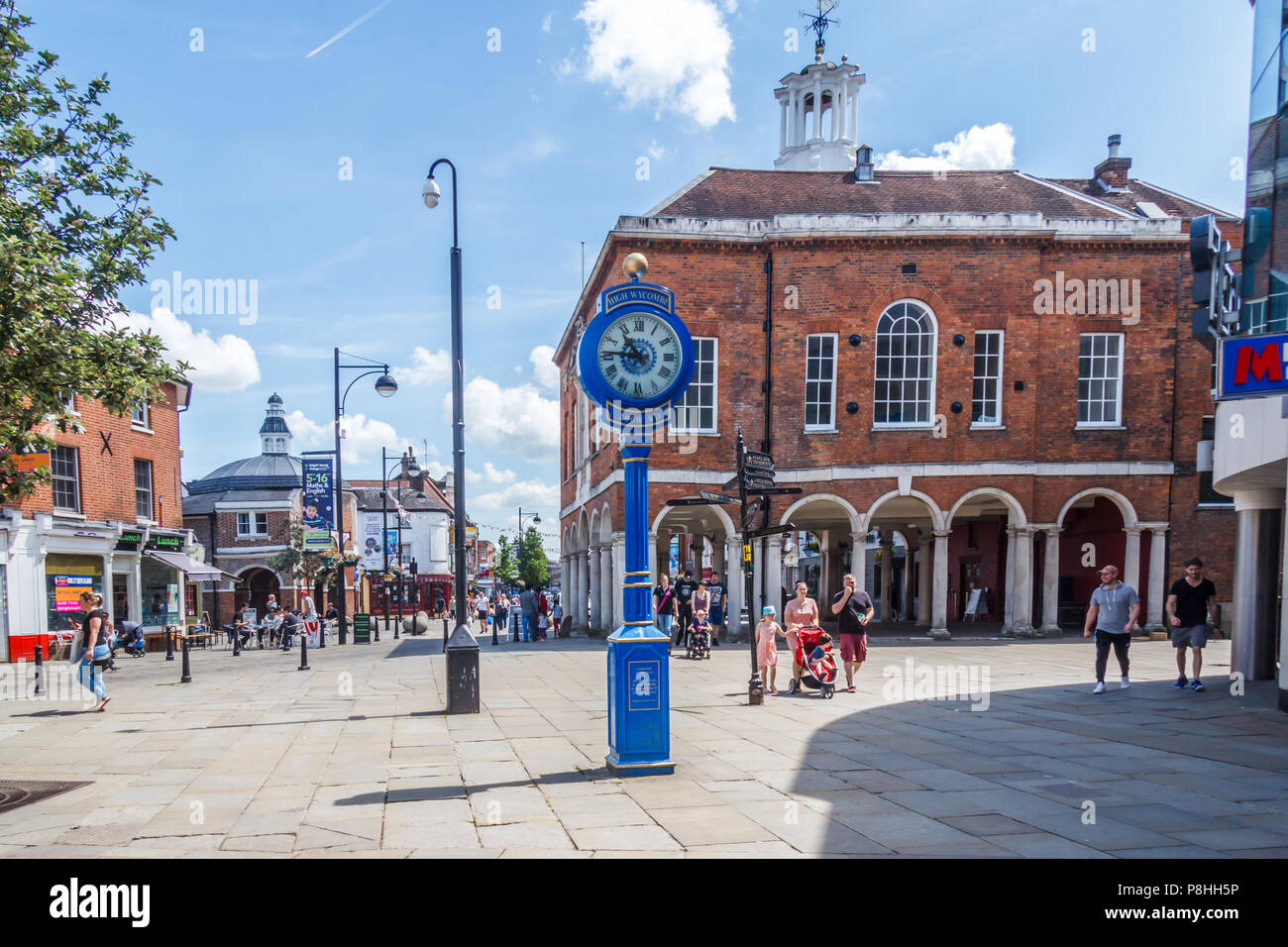 High Wycombe, UK - 3rd June 2018: The Millennium clock. Erected in 2000 - Stock Image