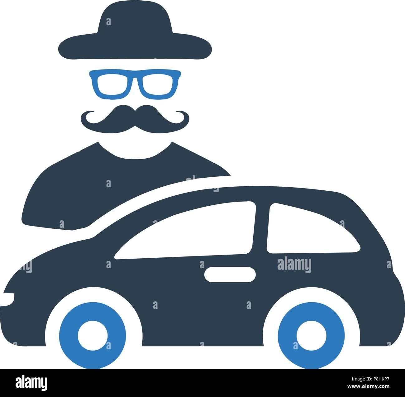 Car Theft Icon - Stock Vector