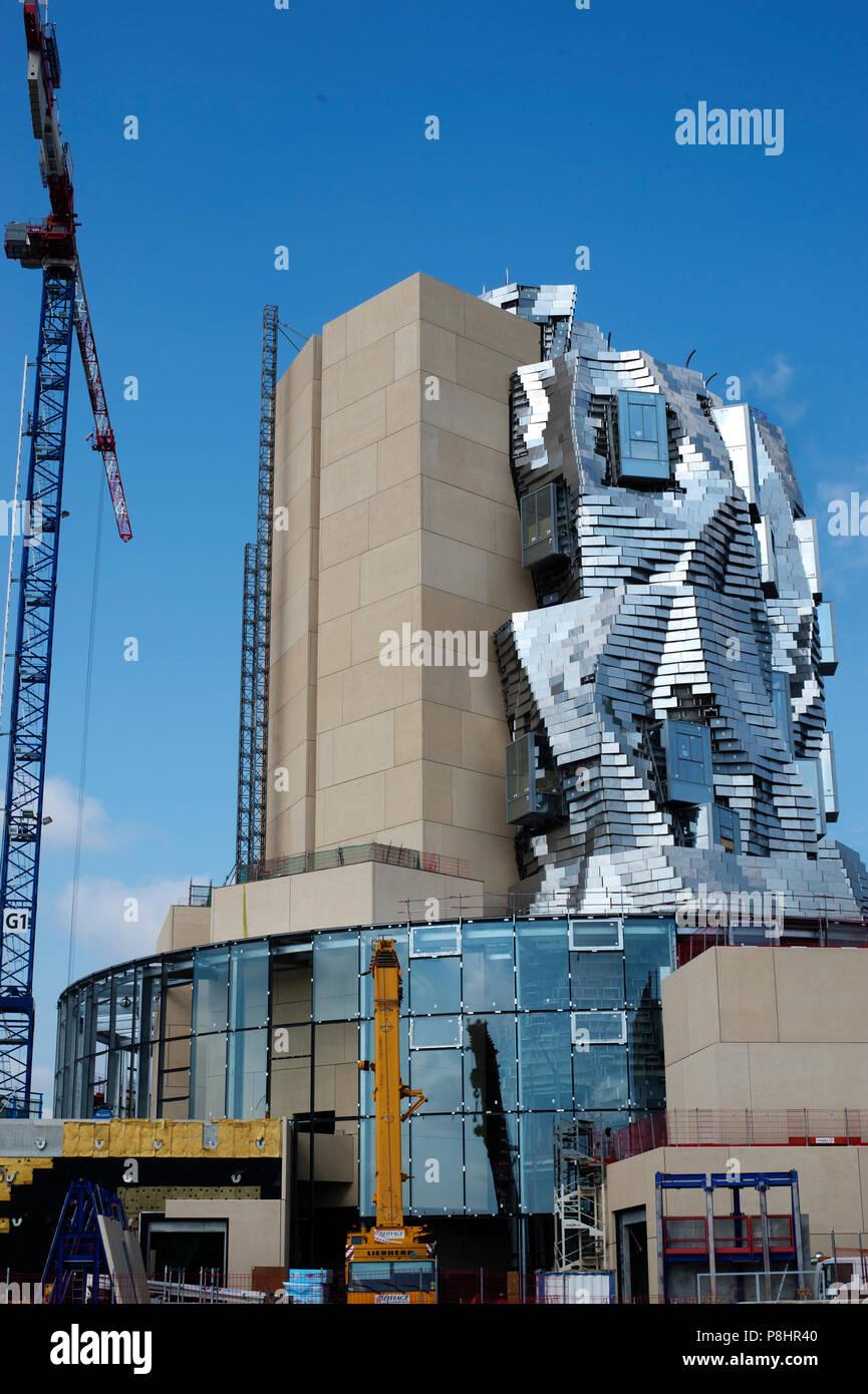 Arles, France. Luma exhibition space under construction. Stock Photo