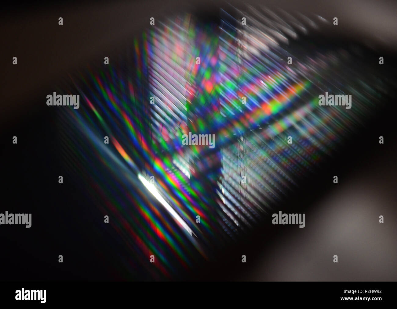 Diffraction from display - Stock Image