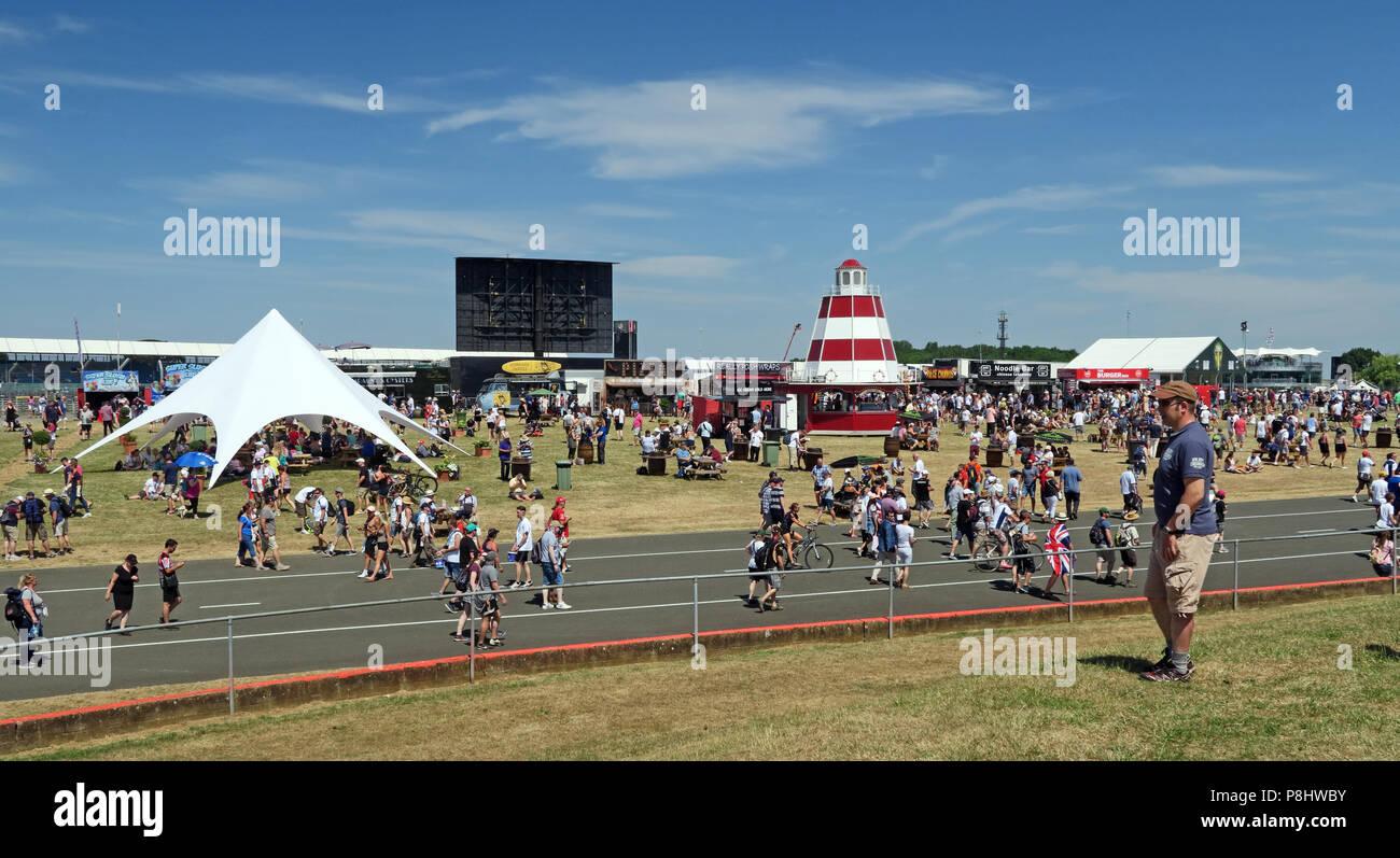 Silverstone GP Formula One, Fanzone, Silverstone Circuit, Towcester, Northampton, England, UK, NN12 8TL Stock Photo