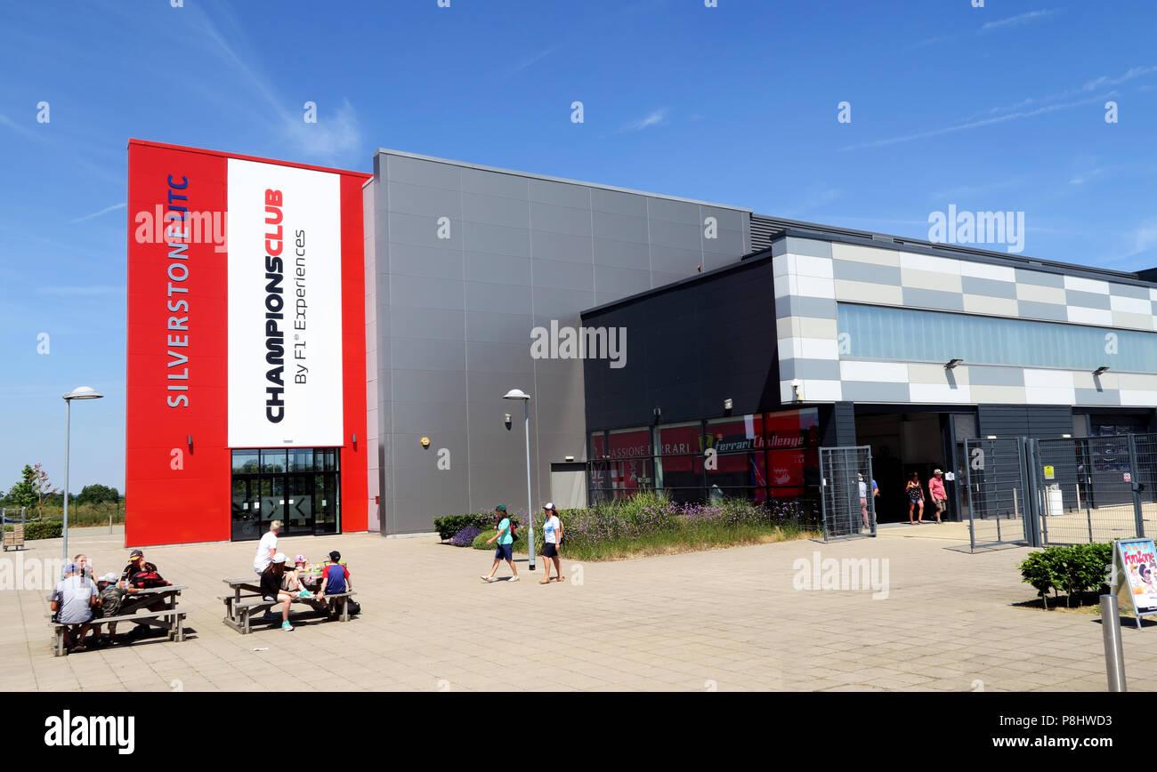 Silverstone UTC ChampionsClub, F1 Experiences technology centre, Silverstone Circuit, Silverstone Circuit, Towcester, Northamptonshire, UK, NN12 8TL Stock Photo