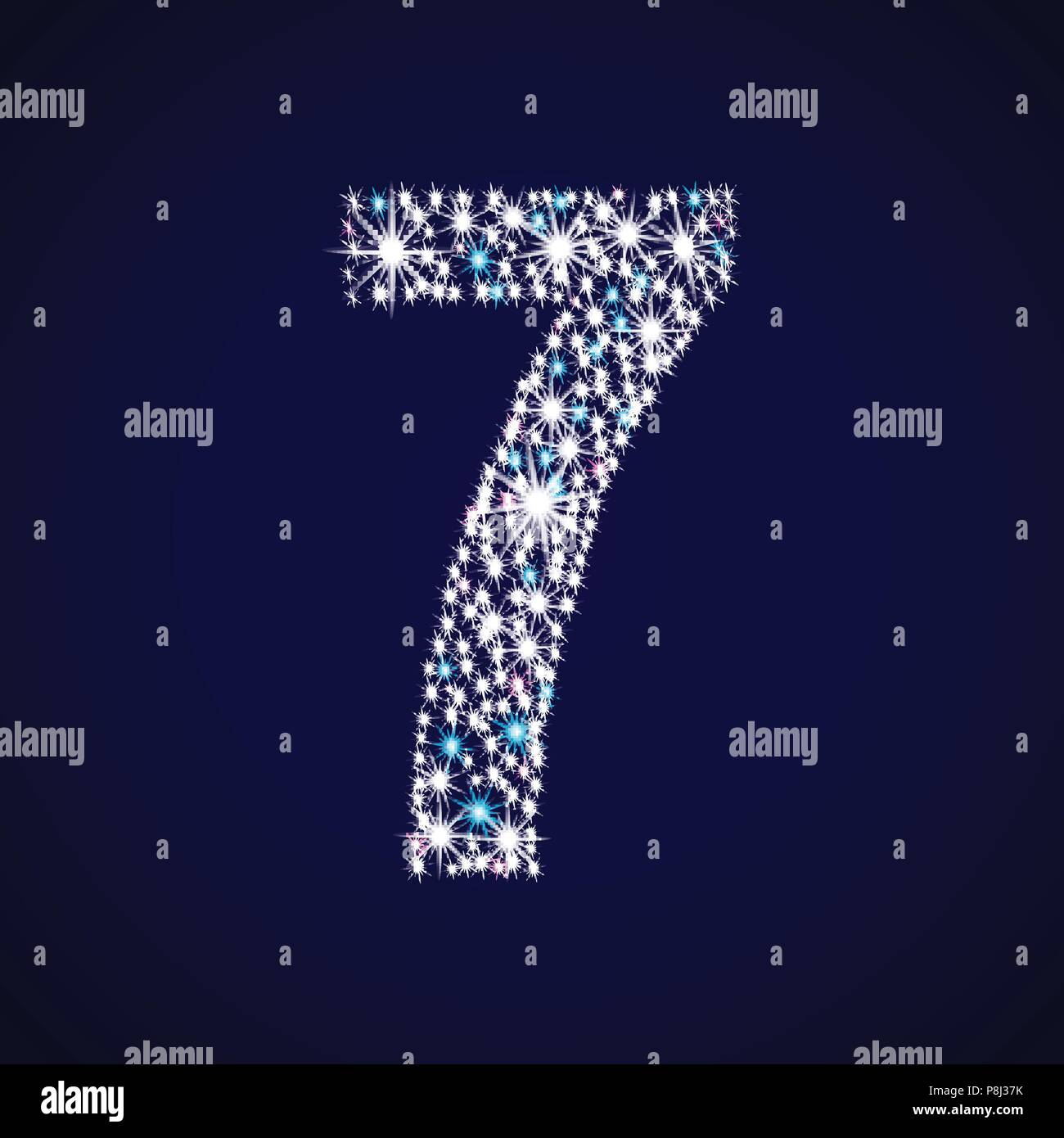 Number seven. - Stock Image