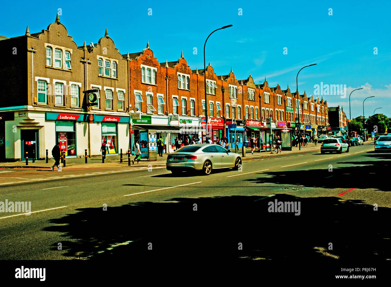 Shops in Bromley Road, Catford, Borough of Lewisham, London - Stock Image