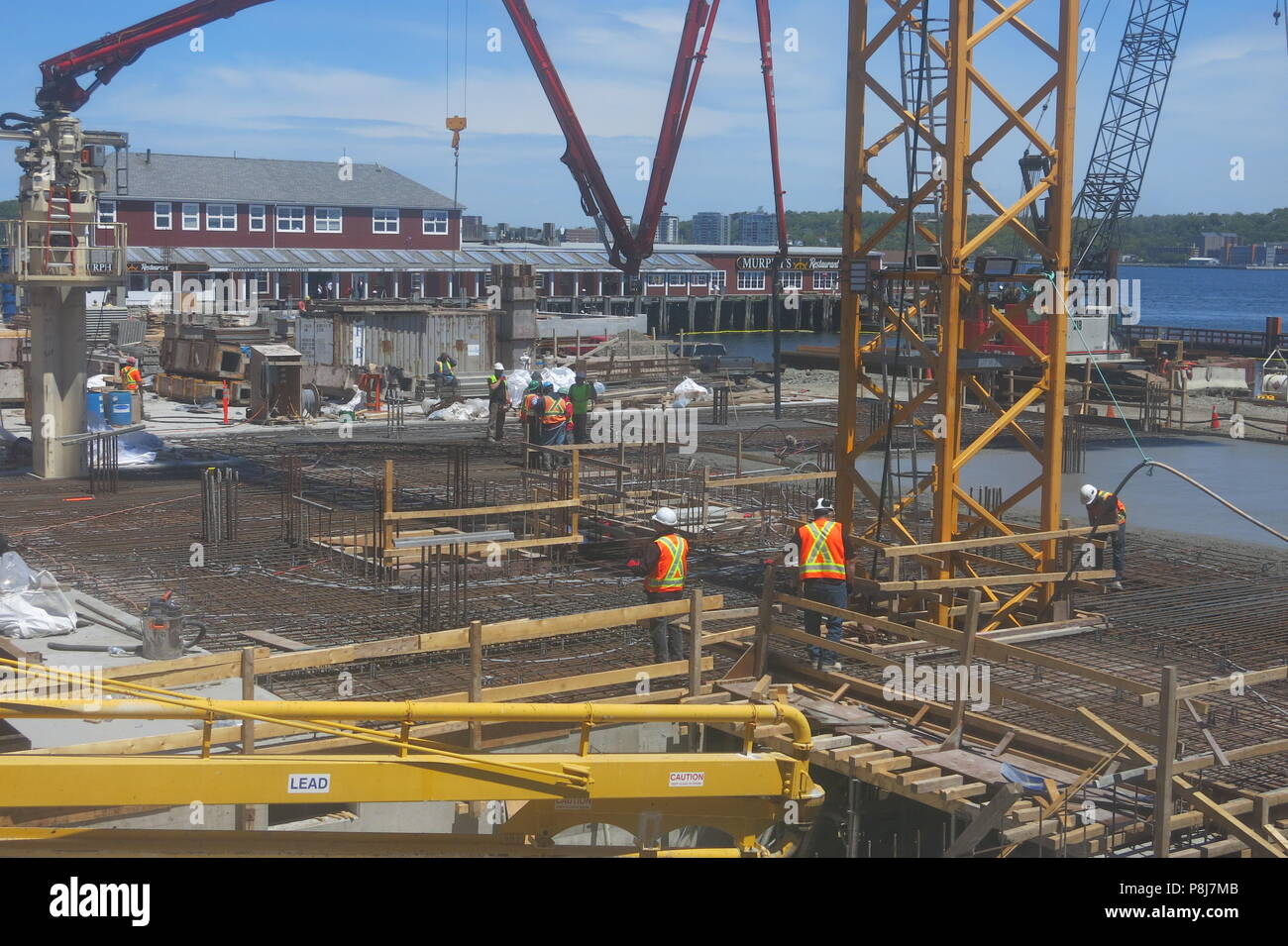construction is well underway on the 2 hectare site queen s marque