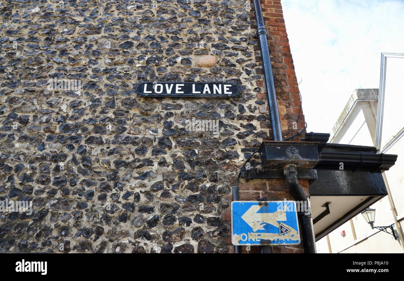 old love lane sign in margate kent street UK england - Stock Image