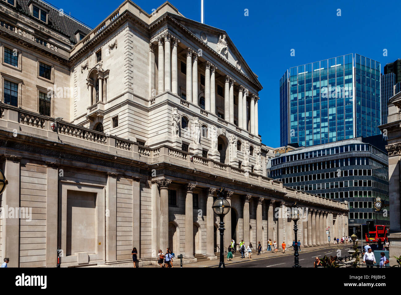 The Bank Of England, Threadneedle Street, The City of London, London, England - Stock Image