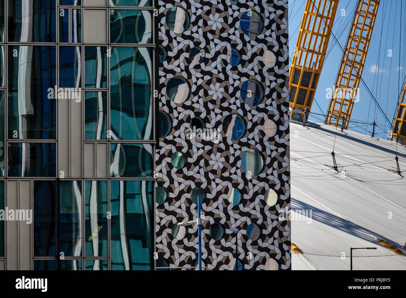 Modern Architecture, Greenwich Peninsula, London, England - Stock Image