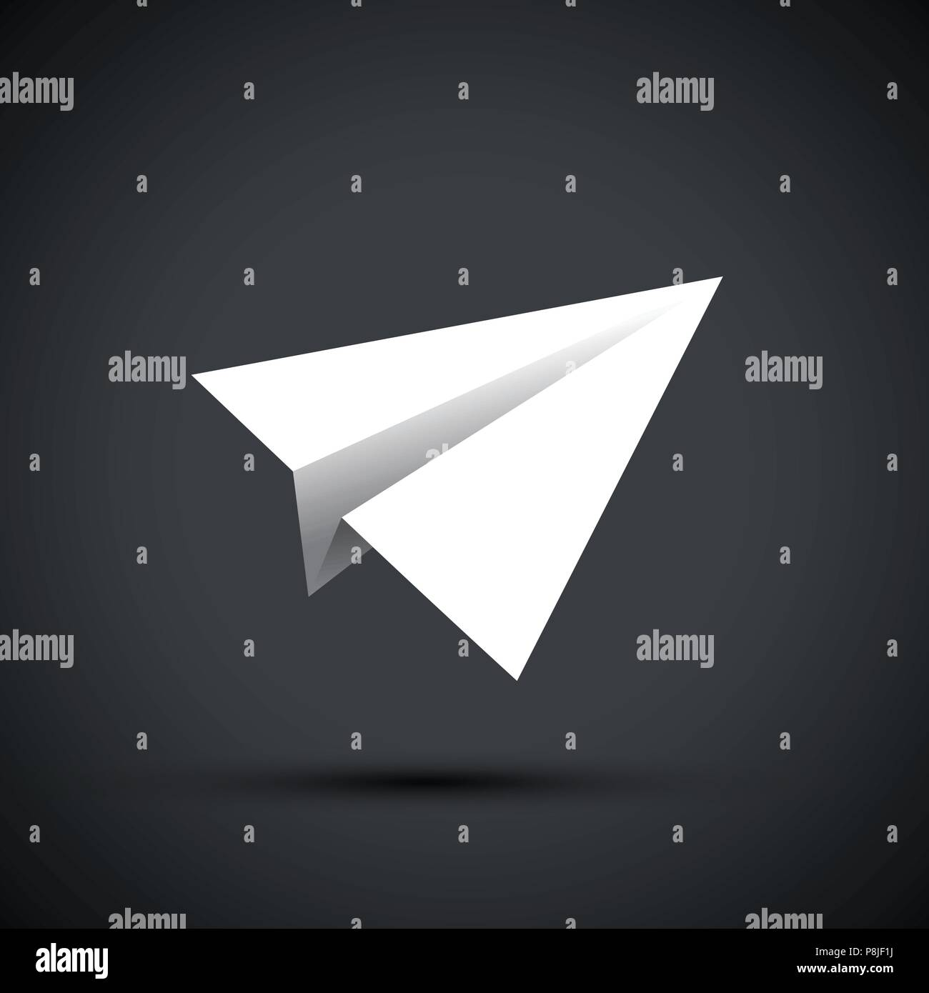 white paper aeroplanes - Stock Vector