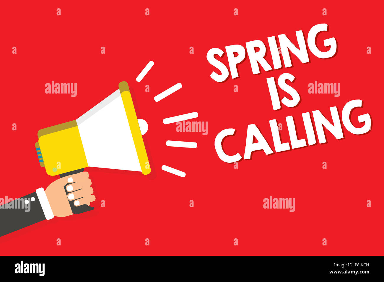 Handwriting text writing Spring Is Calling. Concept meaning Time for ...