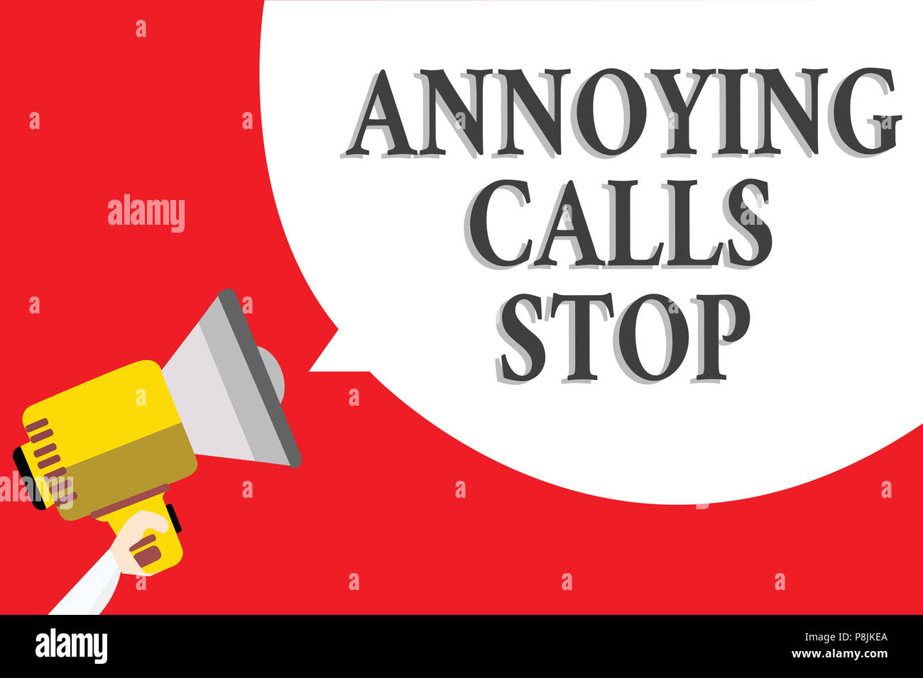 Word writing text Annoying Calls Stop  Business concept for