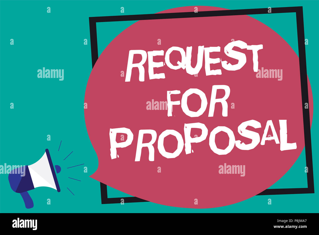 Handwriting text Request For Proposal. Concept meaning document ...