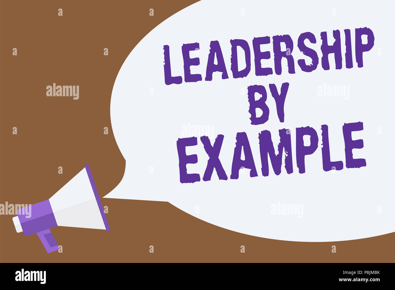 text sign showing leadership by example. conceptual photo becoming