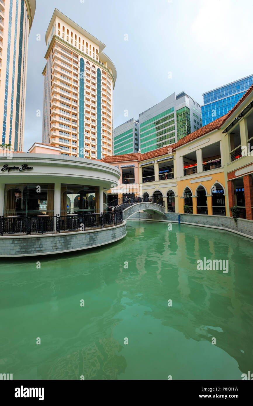 Venice Grand Canal Shopping Mall, in Manila, Philippines - Stock Image