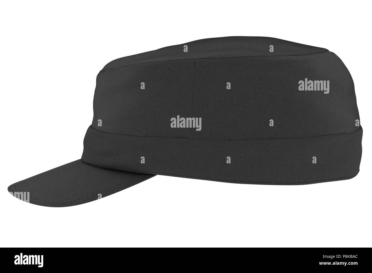 27bb2aa8 Black cap isolated on white background. Include clipping path. 3d render