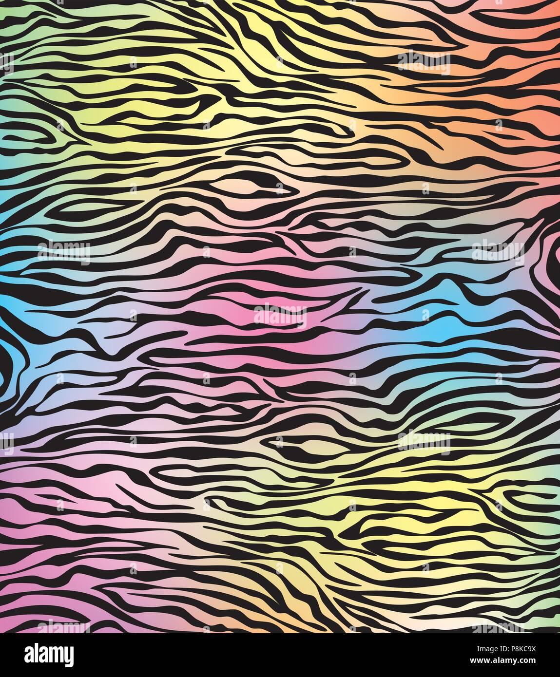 vector abstract skin texture of zebra - Stock Vector