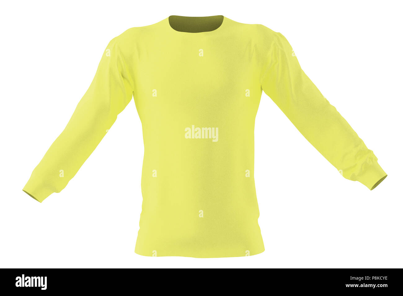112dca4e67d Long sleeve t-shirt. Isolated on white background. Include clipping path. 3d