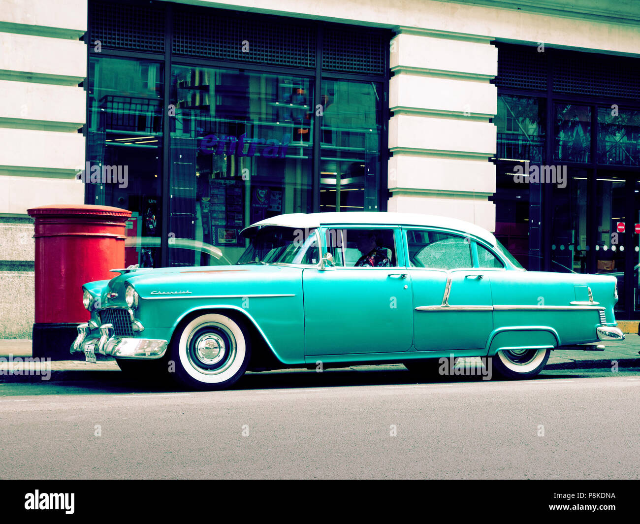 1955 Chevrolet 210 parked on a street ti London UK London UK - Stock Image