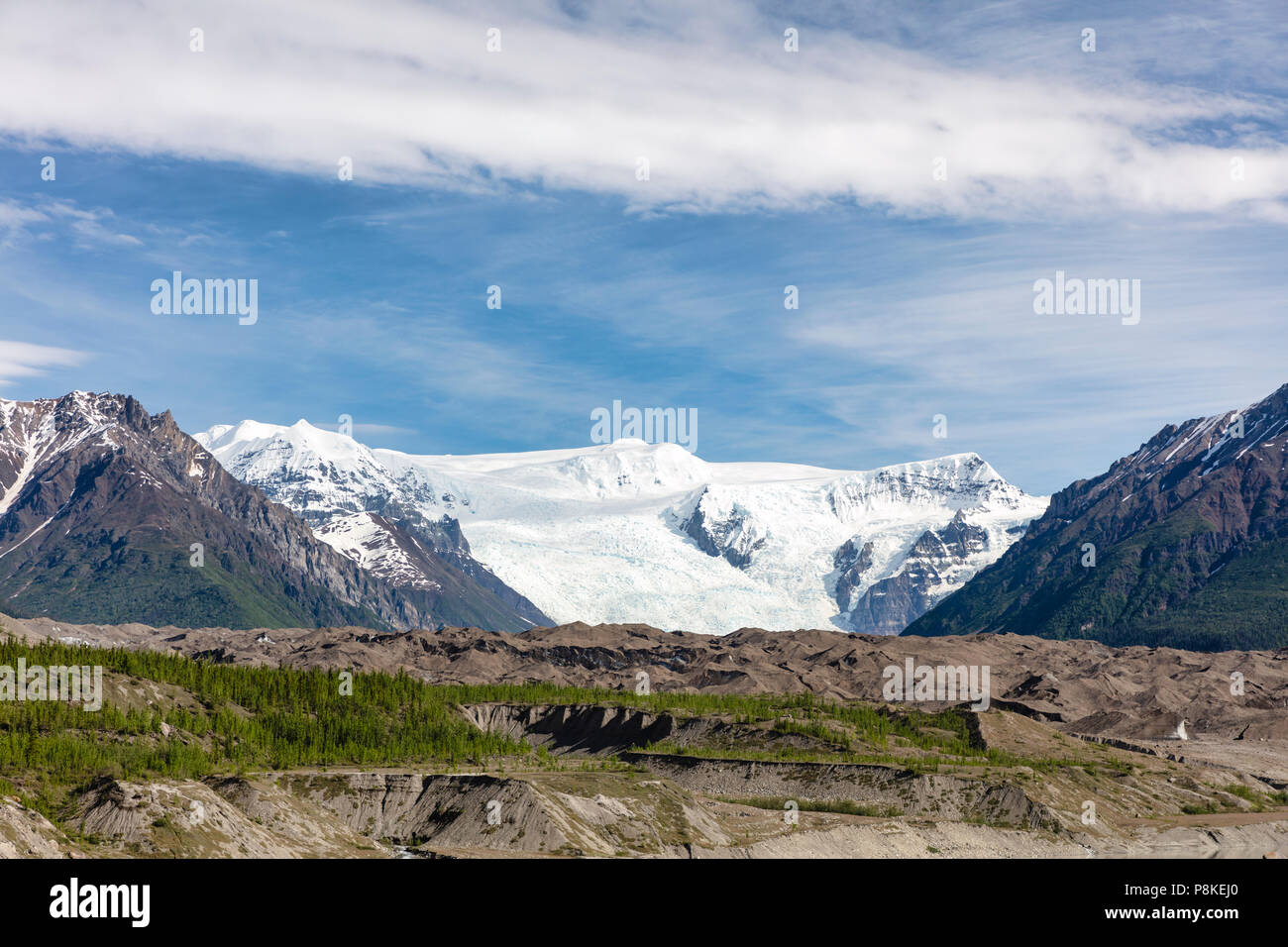 Stairway Icefall on Root Glacier in Wrangell-St. Elias in Southcentral Alaska. - Stock Image