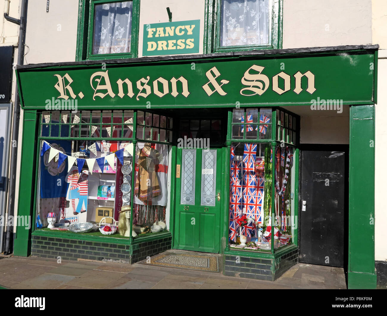 Anson fancy Dress Shop, 30-31 Market Place, Doncaster,Yorkshire, UK,  DN1 1NE - Stock Image