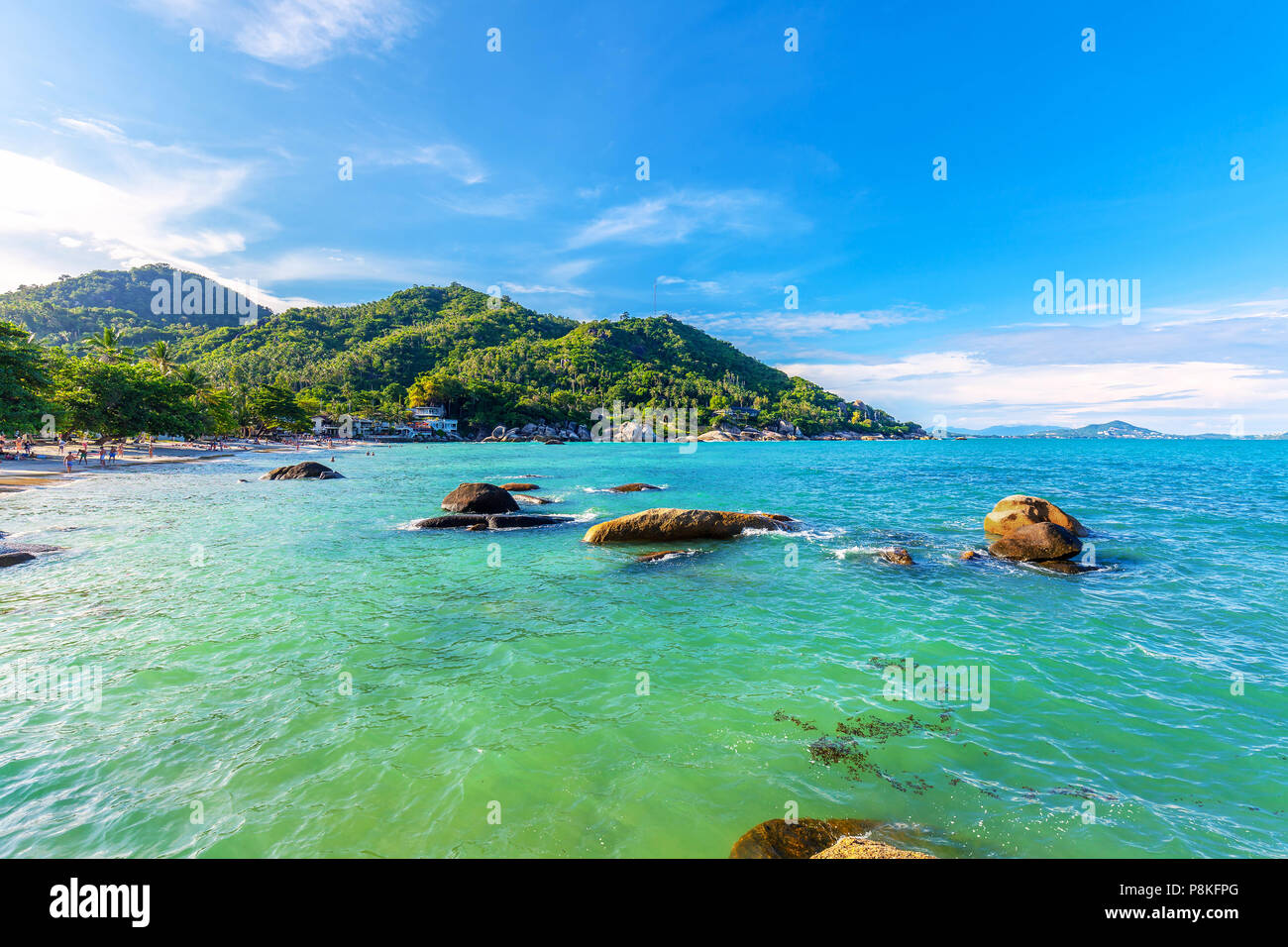 Beautiful Silver  beach on the island of Samui in Thailand. - Stock Image