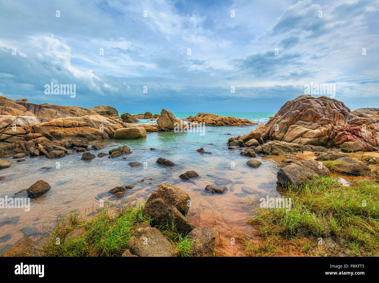 Early morning on the island of Koh Samui in Thailand. - Stock Image