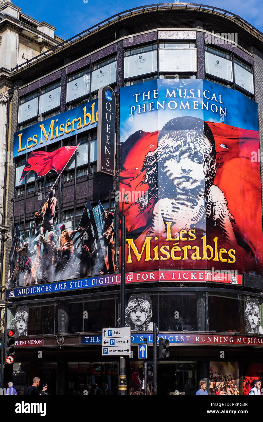 Les Miserables musical, Queens Theatre, London, England, U.K. - Stock Image