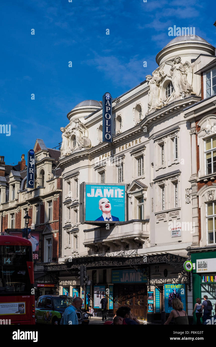 Everybody's Talking About Jamie musical, Apollo Theatre, London, England, U.K. - Stock Image
