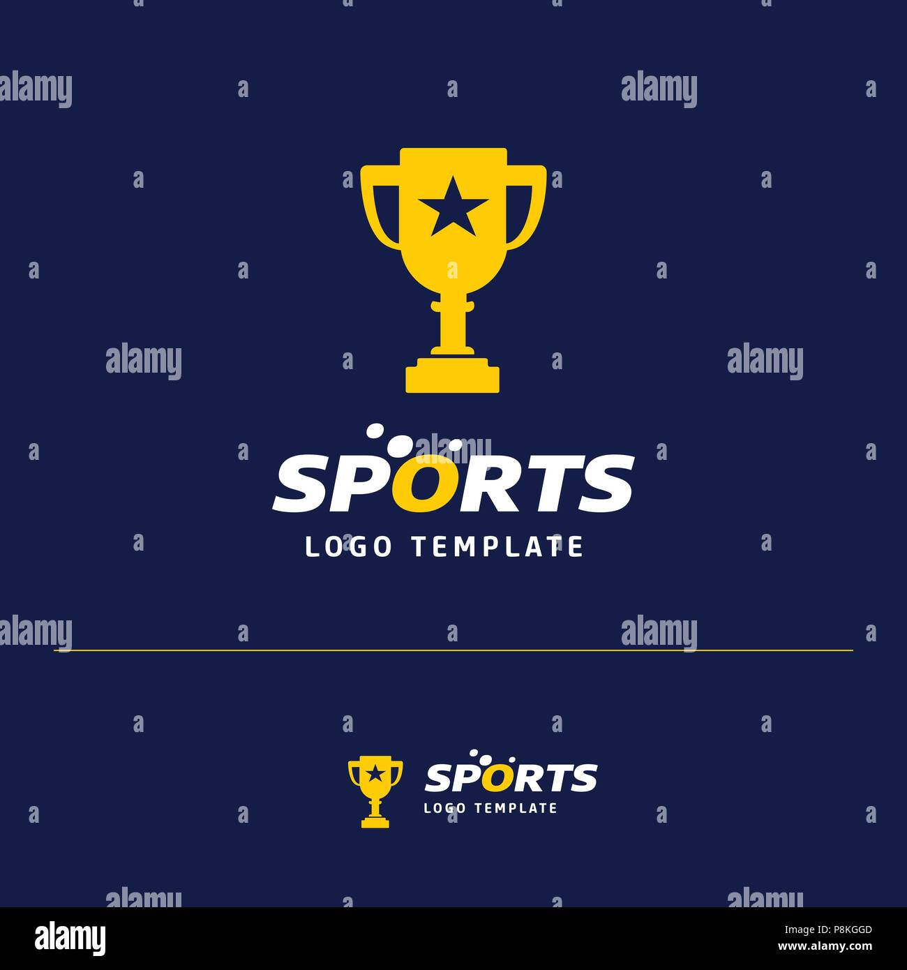 Business card design with sports logo and blue theme vector. For web ...