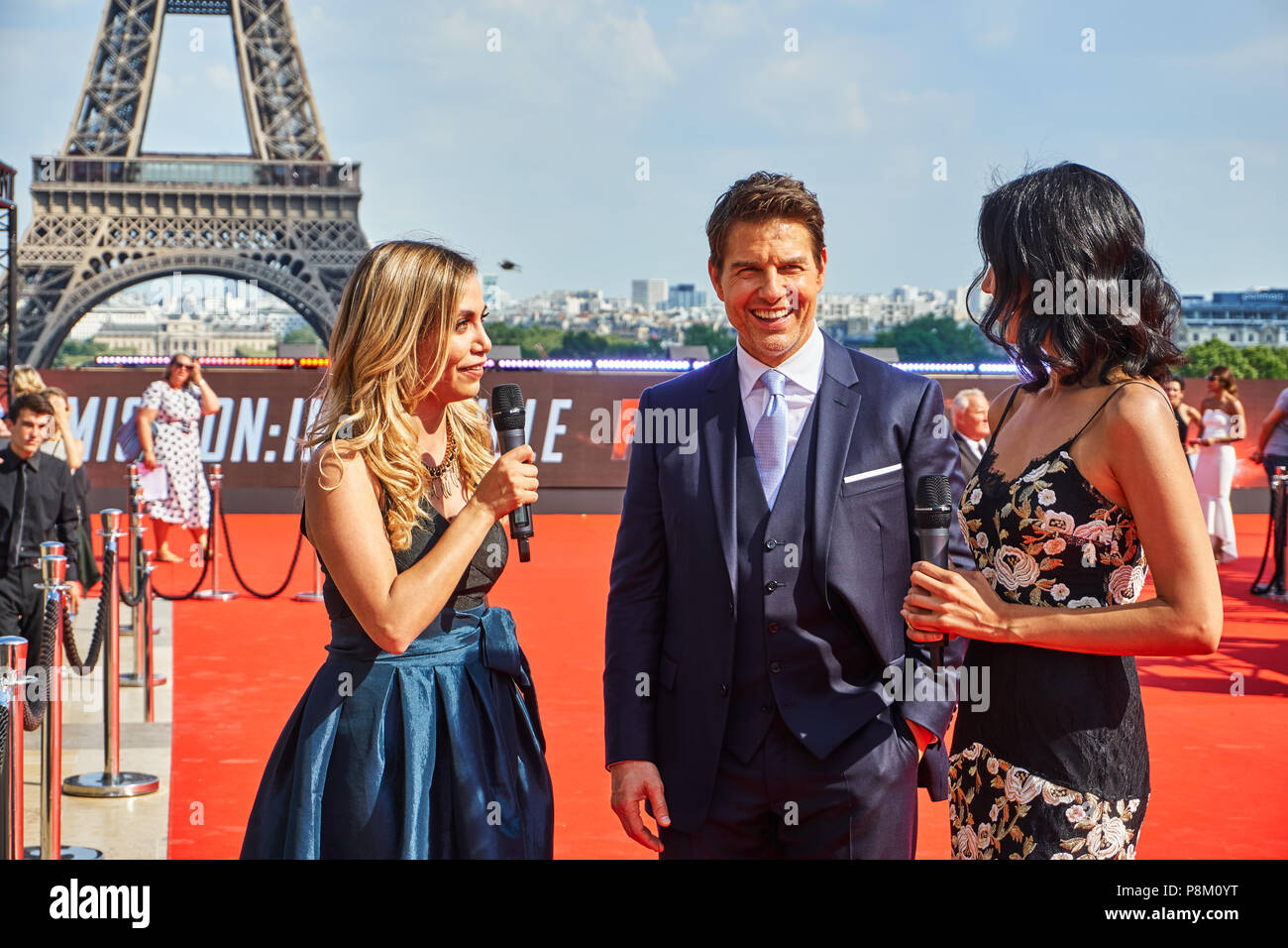Paris, France. 12 July 2018. Tom Cruise at the Mission: Impossible - Fallout World Premier red carpet. Credit: Calvin Tan/Alamy Live News Stock Photo