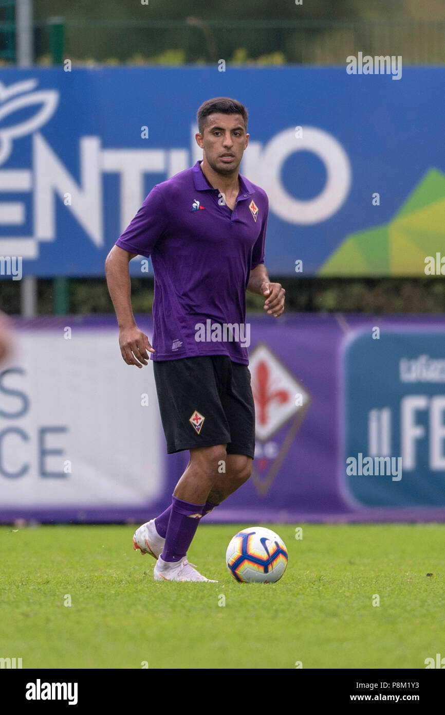 Maximiliano Martin Olivera De Andrea(Fiorentina) during the Italian 'Serie A' match between Fiorentina 10-0 Team Val di Fassa at Cesare Benatti Stadium on July 11, 2018 in Moena, Italy. Credit: Maurizio Borsari/AFLO/Alamy Live News - Stock Image