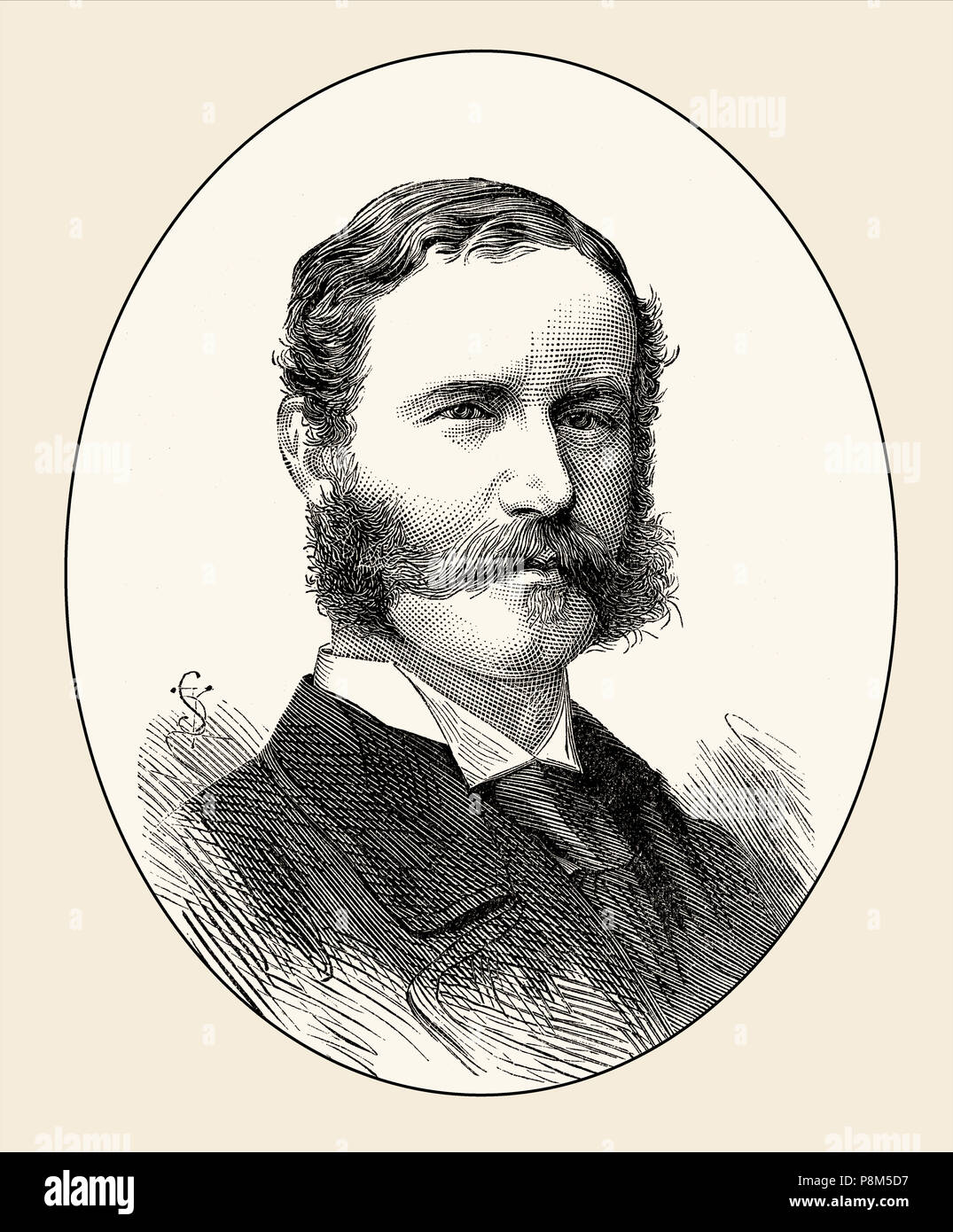 Lt Col. Philip Robert Anstruther,  a British army officer, killed at the Battle of Bronkhorstspruit, Transvaal on 20 December 1880, From British Battl - Stock Image