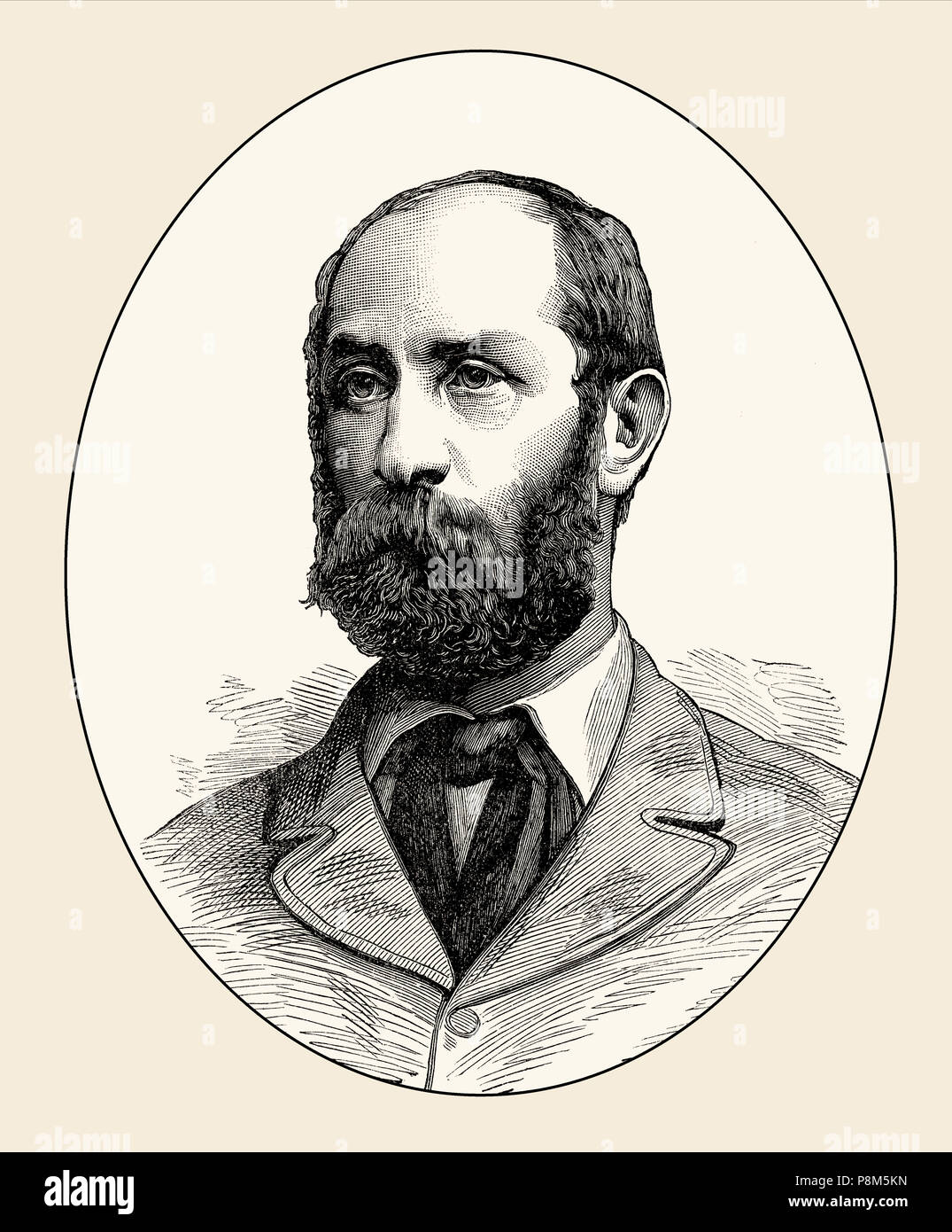 Major General Sir George Pomeroy Colley, 1835–1881, a British Army officer, Governor and Commander-in-Chief of Natal, South Eastern Africa, From Briti - Stock Image