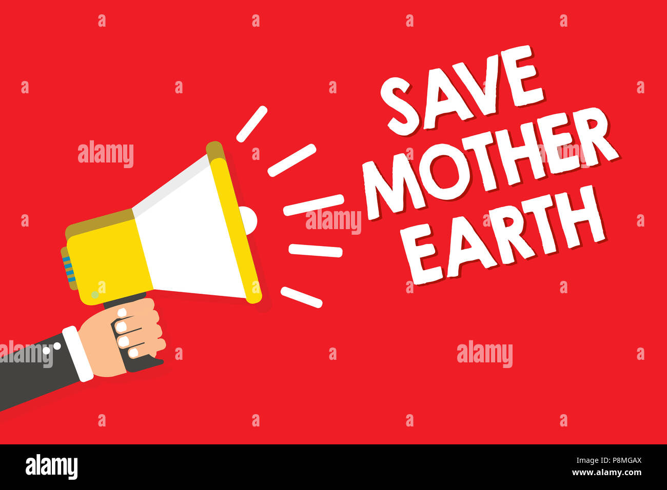 Handwriting Text Writing Save Mother Earth Concept Meaning Doing