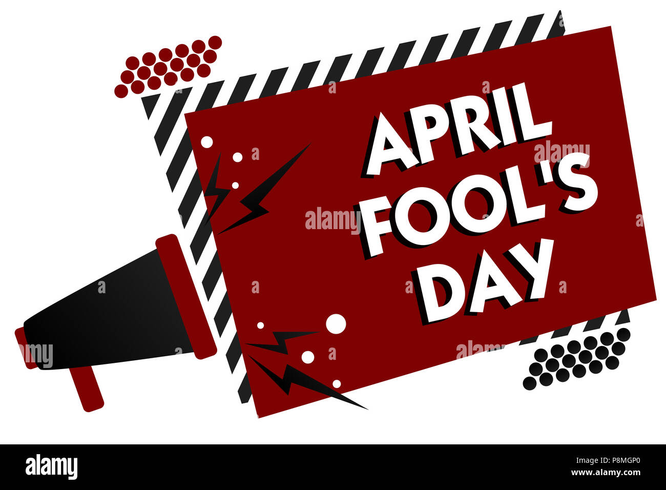 Conceptual hand writing showing April Fool s is Day. Business photo text Practical jokes humor pranks Celebration funny foolish Multiple text pattern  - Stock Image