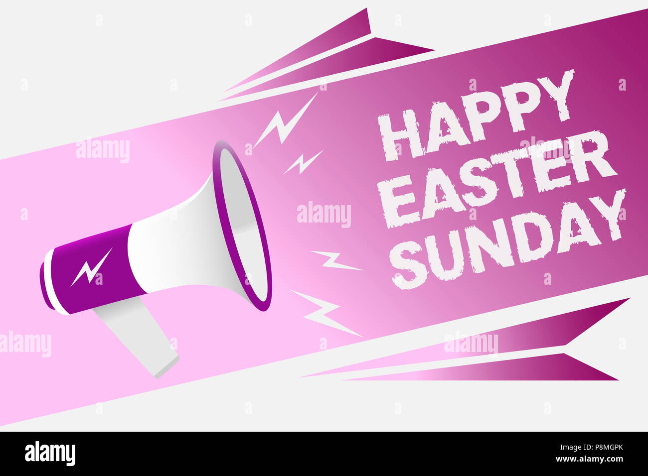 Writing note showing happy easter sunday business photo showcasing writing note showing happy easter sunday business photo showcasing greeting someone about holidays spring is coming loud speaker convey message ideas m4hsunfo