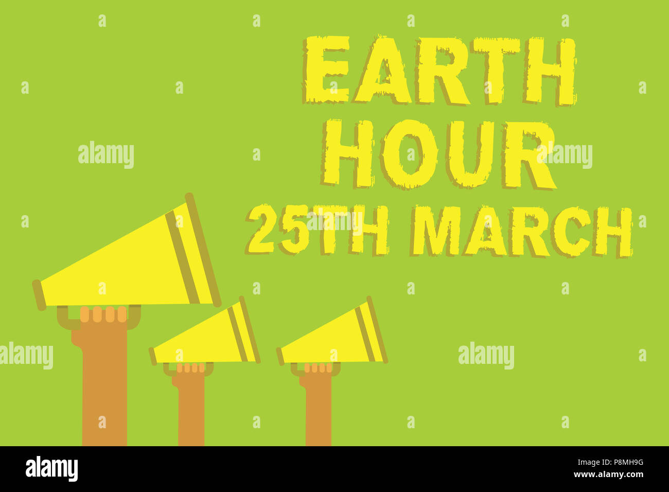 Word Writing Text Earth Hour 25th March Business Concept For Symbol