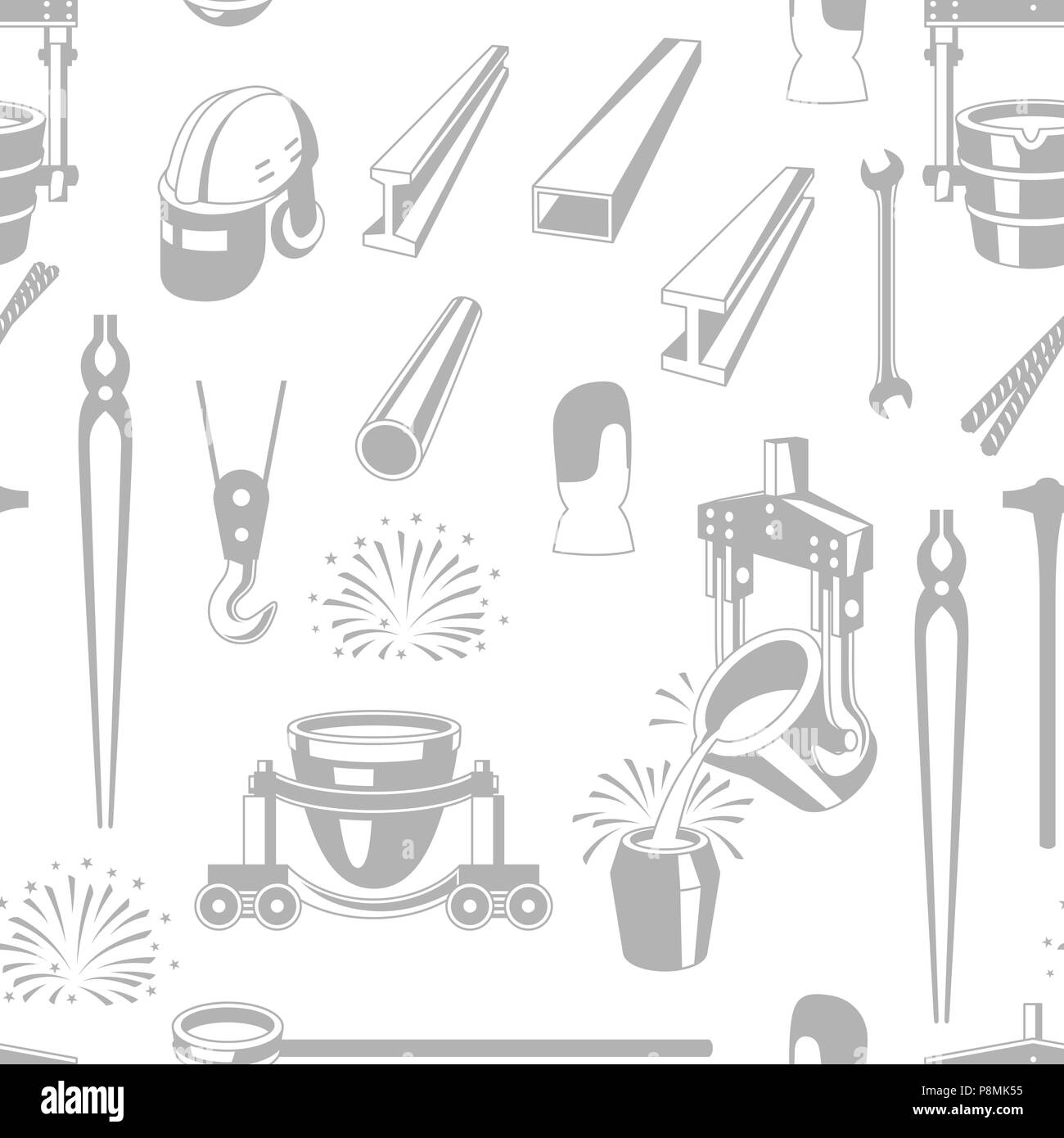 Metallurgical seamless pattern. - Stock Image