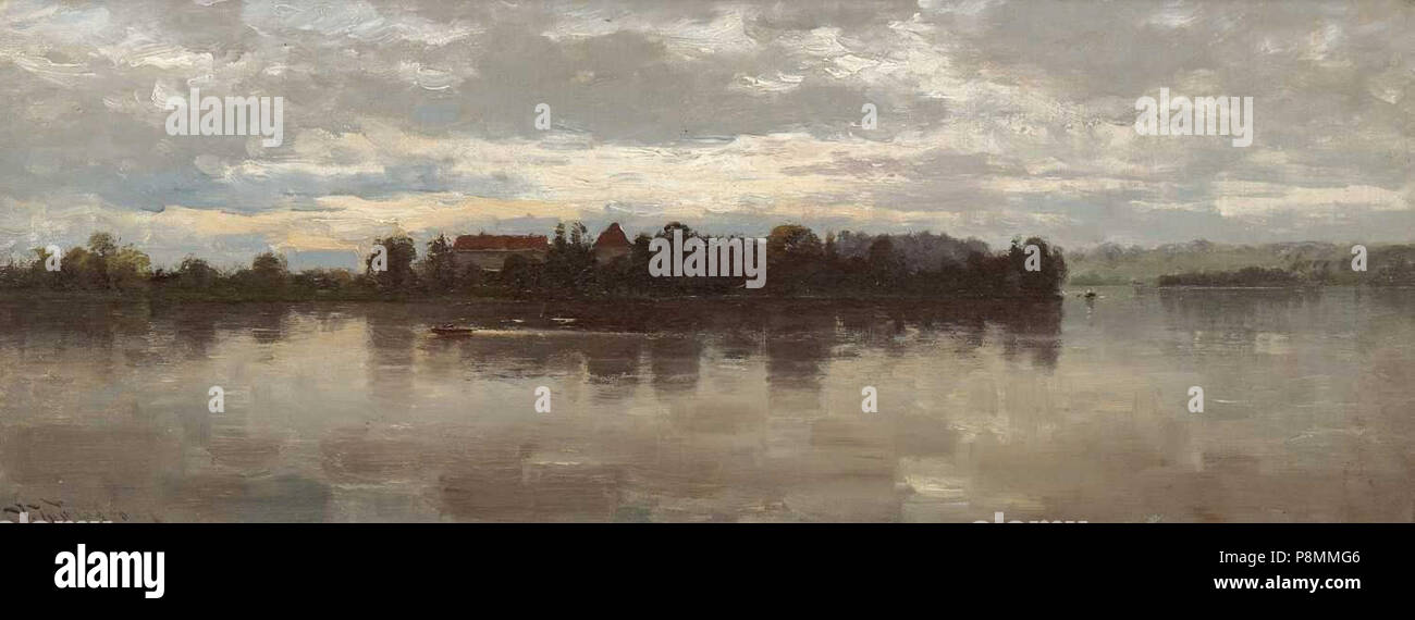 .   587 Josef Wopfner - Blick auf die Herreninsel - Stock Image