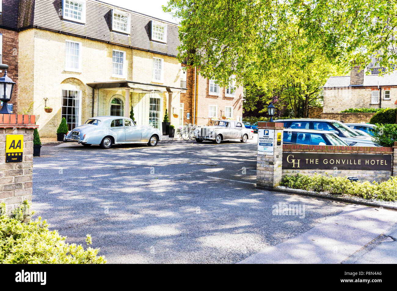 the gonville hotel cambridge, the gonville hotel, cambridge, boutique hotel, cambridge hotel, cambridge hotels, Cambridge UK, gonville hotel cambridge Stock Photo