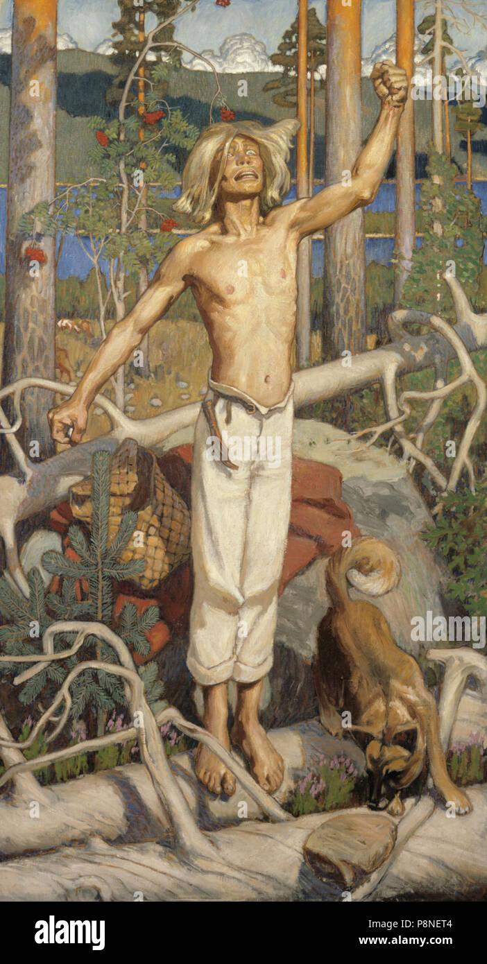 .   293 Gallen Kallela Kullervos Curse - Stock Image